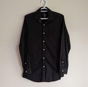 Grafton | black patterned slim fit shirt sz small